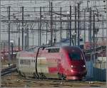 The PBKA Thalys unit 4301 will soon arrive at the station Bruxelles Midi on February 14th, 2009.