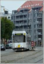 Tram N° 6001 pictured in Blankenberge on September 13th, 2008.
