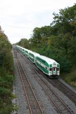 Go Transit unit with control car 209 and engine MP40PH-3C 613 towards Hamilton on 30.09.2009 at Snake (Burlington).
