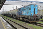 On 28 May 2015 CD 742 191 shunts a tank train in Ostrava hl.n.