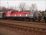 CZ LOKO 744 001-9 in railvay station Hostivice on 16.1.2015.