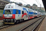 On 5 April 2017 CD 471 011 quits Praha hl.n. and sports special colours to commemorate more than twenty years of the PID-Ticket system.