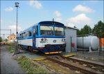 CD 810 561-1 at gas station by railvay station Kralupy nad Vltavou on 22.7.2016.