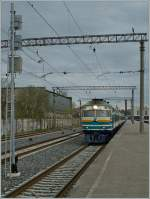 The Edelarautee DR1B-37209 (and an the DR1B-3719) with the Sunday Service n° 0012 to Tartu in Tallin. 06.05.2012