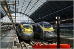 Eurostar trains ins London St Pancras.