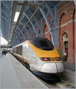 Eurostar in the London St Pancras International Station.