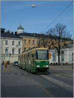 The HSL Tram N° 106 in Helsinki.