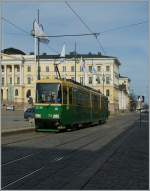 The HSL Tram N° 74 in the Aleksanterinkatu-Street. 28.04.2012