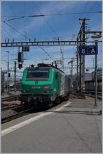 The SNCF BB 37 059 from Lyon to Lausanne Triage in Geneva. 20.06.2016