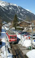 The SNCF Z 600 in Chamonix.