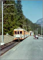 A SNCF Z 600 in Châtelard Frontiere is waiting his departure to Chamnoix Mont Blanc.