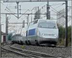 TGV Atlantique/Réseau unit pictured at Fentange (L) on its way from Paris to Luxembourg City on September 21st, 2008.