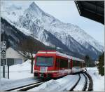A local train is arriving at Chamonix.