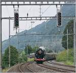 The SNCF 141 R 1244 is arriving at Arth Goldau.