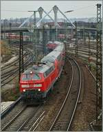 The DB V 218 432-3 in Ulm.