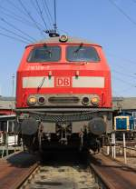 The (V160) 218128-7 will be presented on 24.4.2011 in the Südwestfälische Railroad Museum in of Siegen on the turntable.