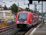 641 010 is entering into the main station of Schaffhausen on September 12th, 2012.