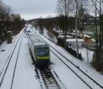 Here a lokal train to Kirchenlaibach on March 3rd 2013.