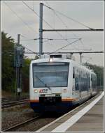 SWEG 650 double unit is arriving in Strasbourg Gare Centrale on October 29th, 2011.