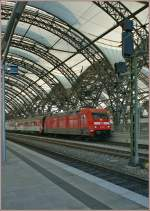 DB 101 012-3 with the EC 178 from Praha to Berlin in Dresden.
