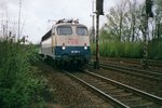 ON 24 February 1998 DB 110 307 is about to call at Viersen.