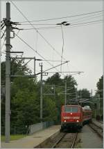 The DB 111 001-4 in Zirl (Karwendelbahn).