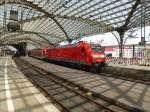 146 029 is standing in Cologne main station on August 21st 2013.