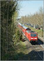DB 146 230-8 with his IRE to Kreuzlingen by Allensbach.