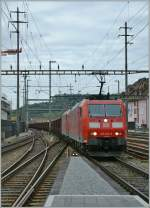 DB 185 103-9 and an other one with a Cargo train in Olten.