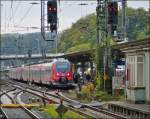 442 double unit (Rhein-Sieg-Express) pictured in Siegen on October 13th, 2012.