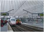 . The ICE 4610  Frankfurt am Main  is entering into the station Liège Guillemins on November 23rd, 2013.