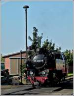 The steam engine 99 2323-6 of the Mecklenburgische Bäderbahn Molli pictured in Kühlungsborn West on September 25th, 2011.