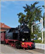 The Molli steam locomotive 99 332 photographed in Kühlungsborn West on September 25th, 2011.