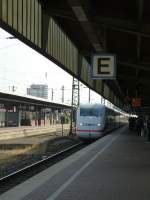 A ICE is arriving in Dortmund main station on August 21st 2013.