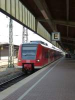 A RE11 to Mönchengladbach is arriving in Dortmund main station on August 21st 2013.