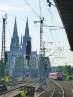 A SE6 to Essen is driving near the station  Köln Messe/Deutz  on August 21st 2013.