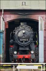 The steam engine 52 8134-0 pictured in Siegen on October 13th, 2012.
