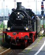 German steam locomotive 78 468 (Pt 37.17) - Prussian T18 with a passenger train on 22.05.2008 (Ascension) in the Hagen main station.