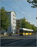 A Berliner Tram near The Wall. 