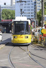 BVG Berlin Tram line M4 at »Hackescher Markt« in Berlin-Mitte. Date: 8 June 2019.