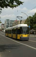 A Berlin Tram in the Friedrichstrasse.