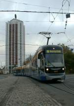The 16-line tram service is arriving on the Station-Place.