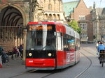 Tramway in Bremen passing the town hall on 17th June 2016.