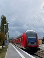 . A local train to Rheine is waiting for passengers in Emden main station on October 7th, 2014.