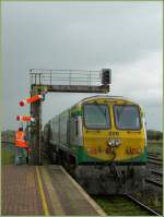 An IR/CIE IC service from Cork to Dublin is leaving Limerick Junction.