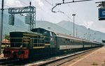 D 245 2123 shunts Swiss stock at Domodossola on 21 May 2006.