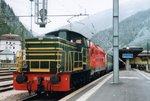 FS 245 6060 hauls an ÖBB 1116 of the EC to Verona at Brennero on a cold 4 June 2016.