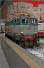 The FS E 656 036 in Milano Centrale. 