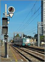 The Trenitalia ALe 582 in Rimini.