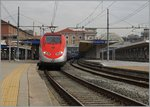 At the Torino Porta Nuova Station is waiting the Frecciarossa 9623 on the departure  time to Roma Termini.